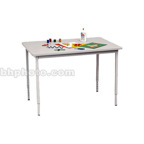"Bretford 36 x 24"" Quattro Work & Utility Table - Grey w/ Quartz"