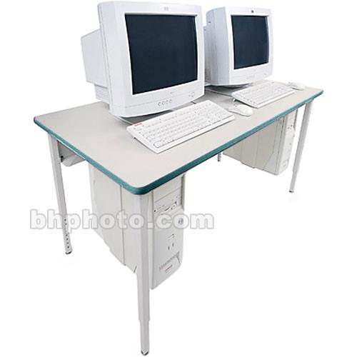"""Bretford 48 x 24"""" Quattro Computer Table - Gray w/ Polo"""