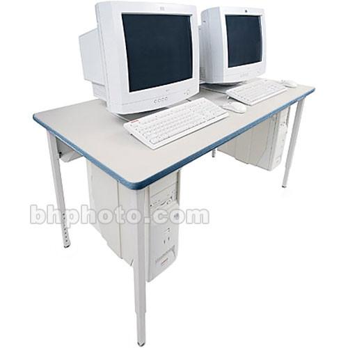 "Bretford 48 x 24"" Quattro Computer Table - Grey w/ Topaz"