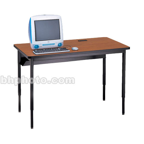 "Bretford 60 x 30"" Quattro Computer Table for Two Computers (Wild Cherry/Black)"