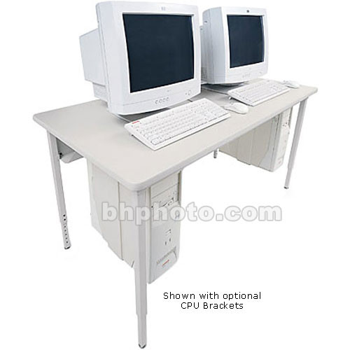 "Bretford 84 x 30"" Quattro Computer Table - Grey w/ Quartz"