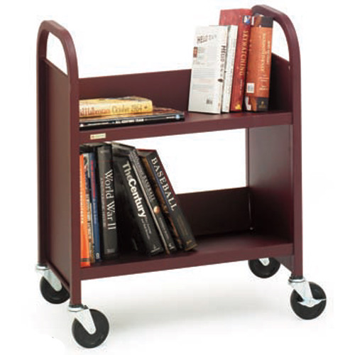 """Bretford Mobile Utility Truck (28 x 13 x 24.5"""") with 2 Slanted Shelves & 2"""" Casters - Putty Beige"""