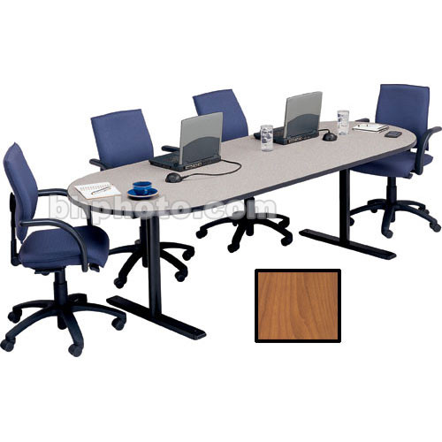 "Bretford 120 x 42 x 29"" Race Track Conference Table - Wild Cherry"