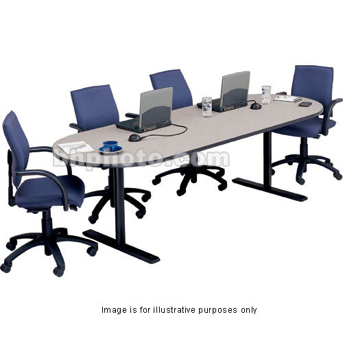 "Bretford 120 x 42 x 29"" Rectangle Conference Table - Storm Nebula"