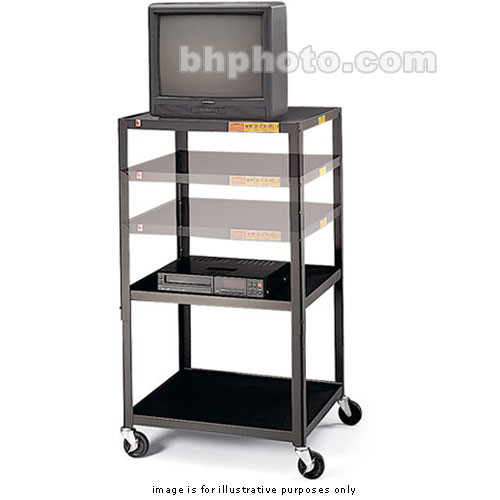 "Bretford TVA3654-E5 , Adjustable TV Cart with 2-Outlets - 5"" Casters (Black)"