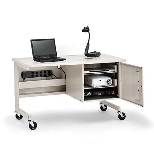 Bretford UCS880 Multimedia Rack-Mount Instruction Workstation (Grey Mist)