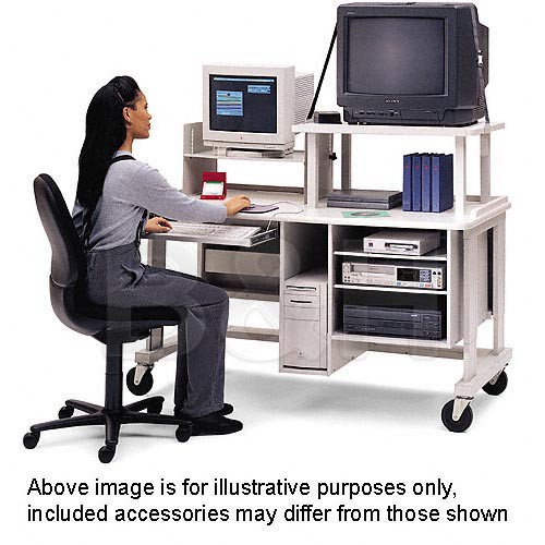 "Bretford 60 x 30"" Multimedia Workstation w/ TV Shelf & Montior Shelf"