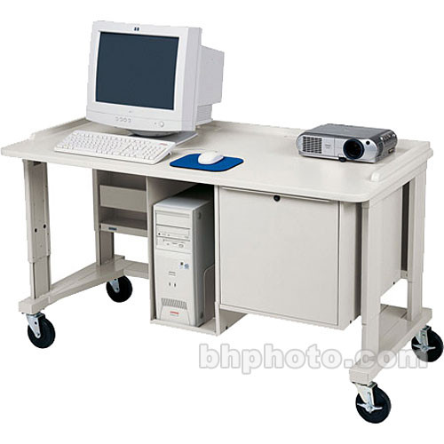 "Bretford 60 x 30"" Multimedia Workstation w/ Locking Cabinet"
