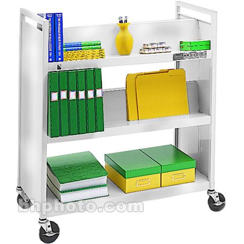 Bretford Mobile Utility Truck w/ 1 Flat & 4 Slanted Shelves - Aluminum