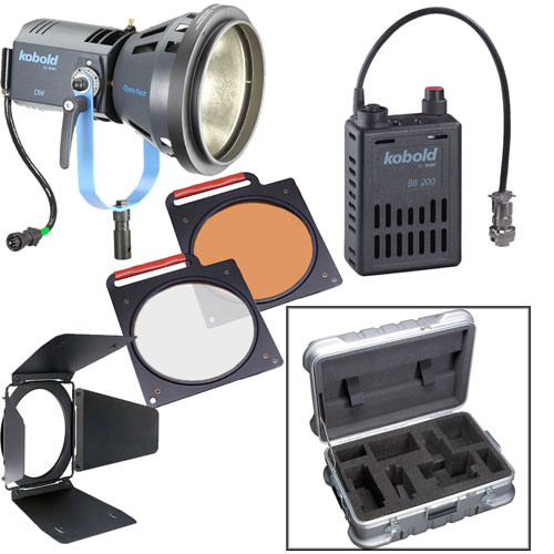 Bron Kobold DW200 Open Face HMI DC Flight Kit (90-265VAC/26-34VDC)