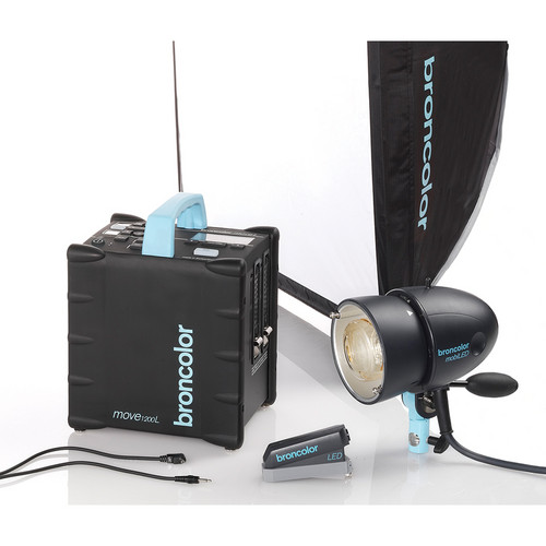 Broncolor Move 1200 L Battery Power Pack with MobiLED Flash Head