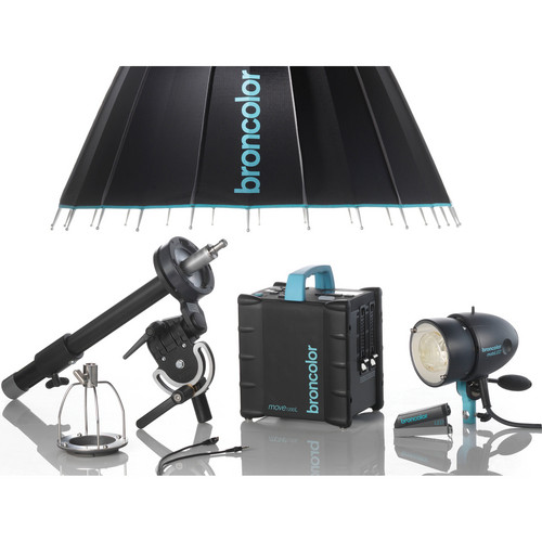 Broncolor Move 1200 L Power Pack /1 MobiLED Lamp Head / Para Kit
