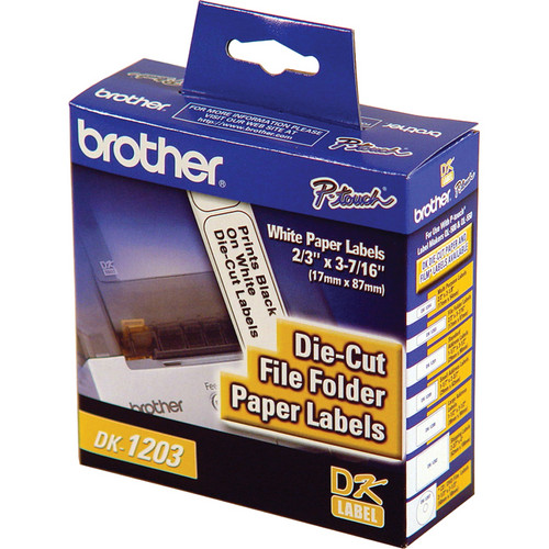 Brother DK1203 File Folder Paper Labels (300 Labels)