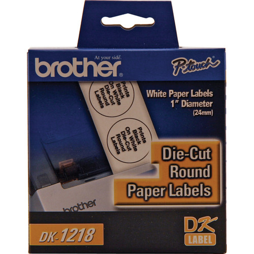 Brother DK1218 Round Paper Labels (1000 Labels)
