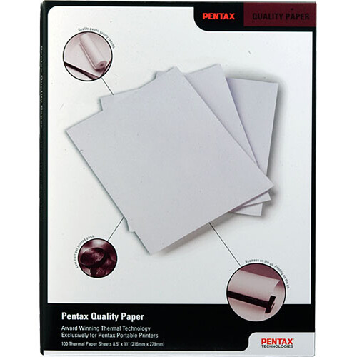 """Brother Quality Paper for for Pentax PocketJet Thermal Printer - 8.5x11"""" (Letter) - 100 Sheets"""
