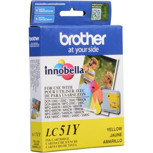 Brother LC51Y Innobella Yellow Ink Cartridge