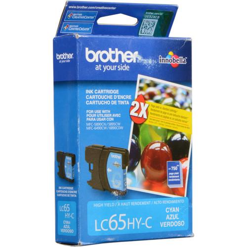Brother LC65HYC  Innobella High-Yield Cyan Ink Cartridge