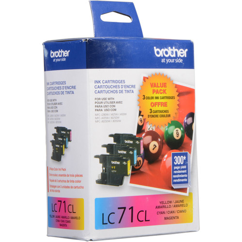 Brother LC71 Cartridges 3-Pack (Cyan, Magenta, Yellow)