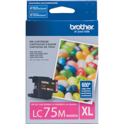 Brother LC75M Innobella High Yield XL Series Magenta Ink Cartridge