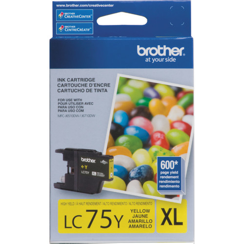 Brother LC75Y Innobella High Yield XL Series Yellow Ink Cartridge