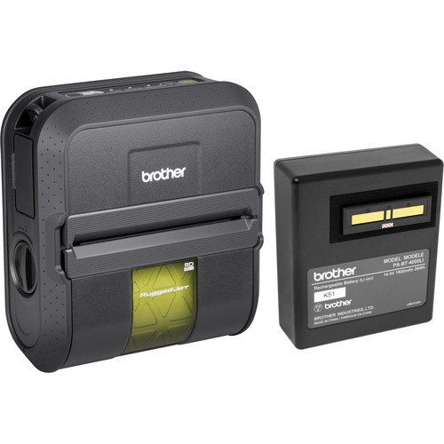 Brother RJ4040-K RuggedJet Mobile Printer Kit With Wi-Fi