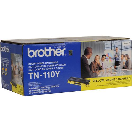 Brother TN-110Y Standard Yield Yellow Toner Cartridge