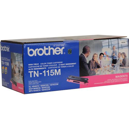 Brother TN-115M High Yield Magenta Toner Cartridge
