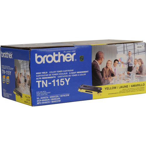 Brother TN-115Y High Yield Yellow Toner Cartridge