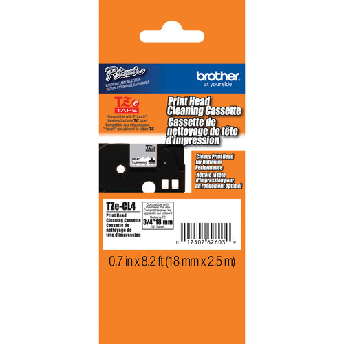 "Brother TZeCL4 0.7"" TZ Cleaning Tape"