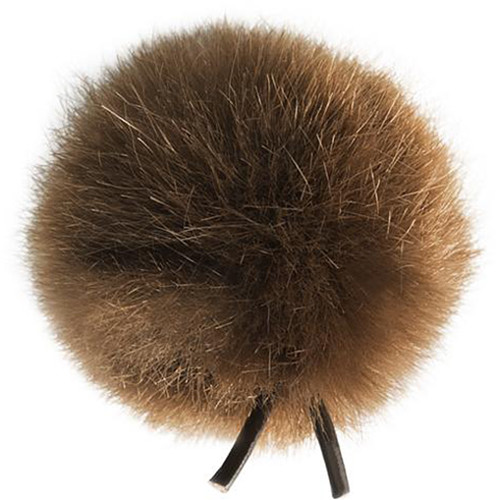 Bubblebee Industries Windbubble Miniature Imitation-Fur Windscreen (Lav Size 1, 28mm, Brown)