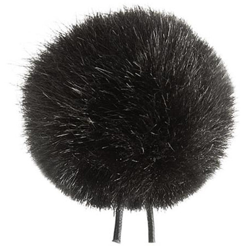 Bubblebee Industries Windbubble Miniature Imitation-Fur Windscreen (Lav Size 2, 35mm, Black)