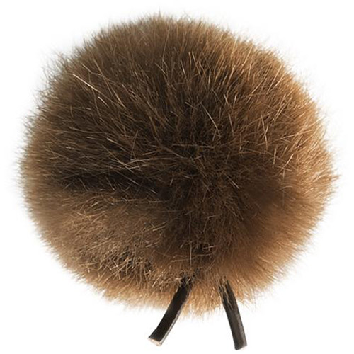 Bubblebee Industries Windbubble Miniature Imitation-Fur Windscreen (Lav Size 2, 35mm, Brown)