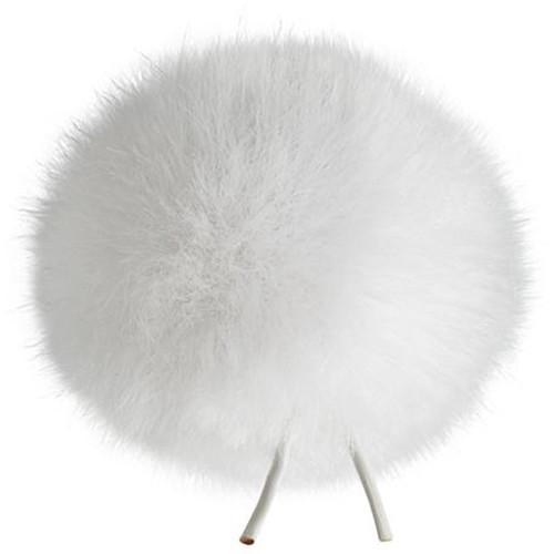 Bubblebee Industries Windbubble Miniature Imitation-Fur Windscreen (Lav Size 2, 35mm, White)