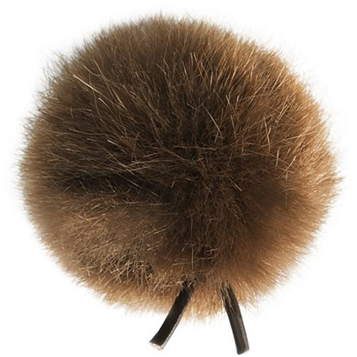 Bubblebee Industries Windbubble Miniature Imitation-Fur Windscreen (Lav Size 4, 42mm, Brown)