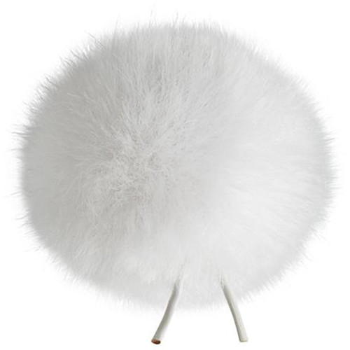Bubblebee Industries Windbubble Miniature Imitation-Fur Windscreen (Lav Size 4, 42mm, White)