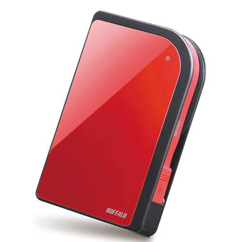 Buffalo 500GB MiniStation Metro HD-PXU2 USB 2.0 Portable Hard Drive (Red)