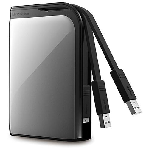 Buffalo MiniStation Extreme 1 TB Portable USB 3.0 Hard Drive (Silver)