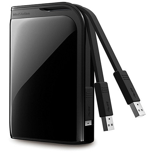 Buffalo MiniStation Extreme 500 GB Portable USB 3.0 Hard Drive (Black)