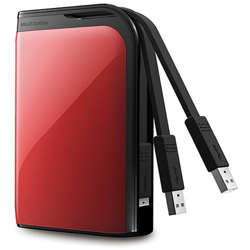 Buffalo MiniStation Extreme 500 GB Portable USB 3.0 Hard Drive (Red)