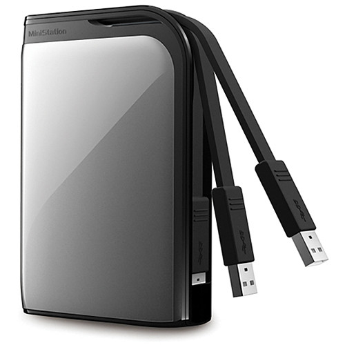 Buffalo MiniStation Extreme 500 GB Portable USB 3.0 Hard Drive (Silver)