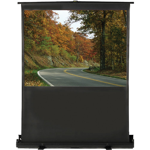 """HamiltonBuhl AC-4836  Portable Floor Front Projection Screen (48 x 36"""")"""