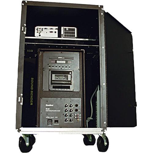 HamiltonBuhl AVPS100SB  AV Presentation Cart with 80W DVD/PA System