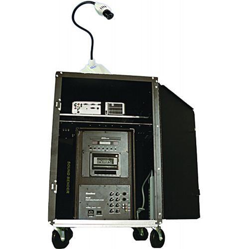 HamiltonBuhl AVPS-300SBC AV Presentation Cart with 80W DVD/PA System & Camera