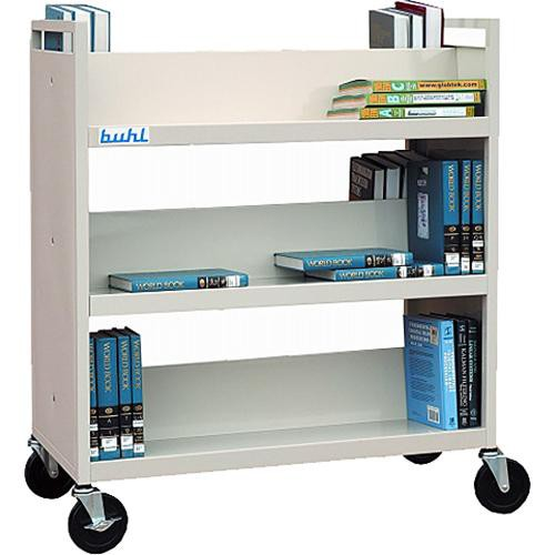 HamiltonBuhl BTDS-6  Double Sided Book Shelf with Six Shelves (Putty Beige)