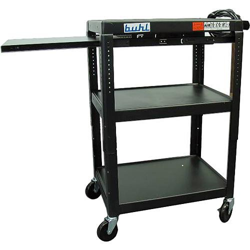 HamiltonBuhl EXTM4226E-5 Height Adjustable AV Media Cart