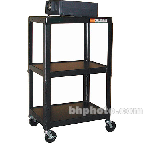 "HamiltonBuhl A/V Cart, Adjustable Height 26 to 42"" - Steel"
