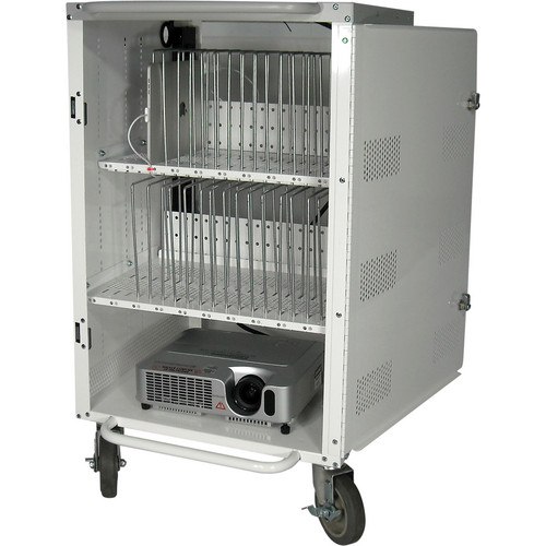 HamiltonBuhl 30-Bay Tablet and iPad Charging / Storage Cart