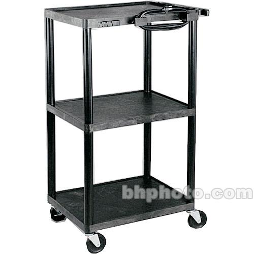 "HamiltonBuhl A/V Cart, Polyethylene, Adjustable 16, 26, 34, and 42"""