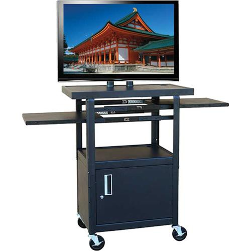 HamiltonBuhl PLCAB4226E Wide Body Flat Panel TV Cart with Locking Cabinet