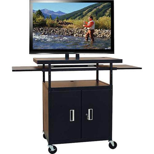 HamiltonBuhl PLCAB5434E Flat Panel AV Cart with Locking Cabinet